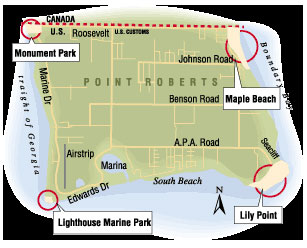 four parks map point roberts wa.